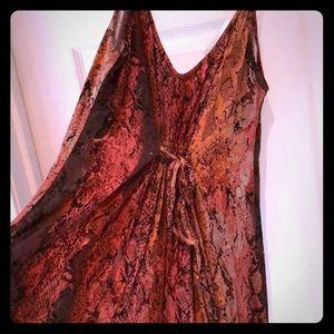 New never worn pink snakeskin print maxi